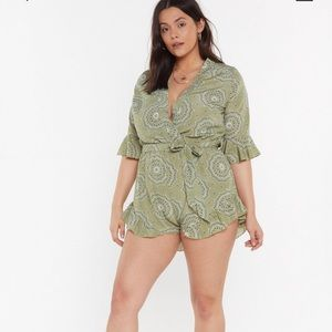 Nasty Gal Green romper